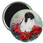 Rabbit in Poinsettia Magnet