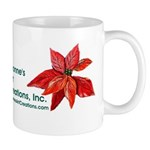 Rabbit in Poinsettia Mug