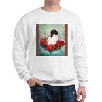 Rabbit in Poinsettia Sweatshirt