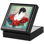 Rabbit in Poinsettia Keepsake Box