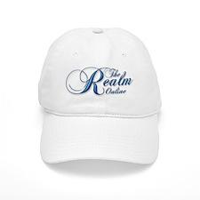 Blue Script Logo Cotton Baseball Cap