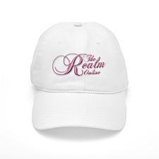 Pink Script Logo Cotton Baseball Cap