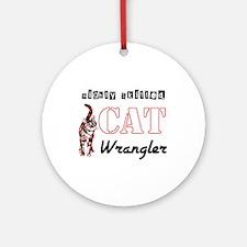 Cat Wrangler Ornament (Round)