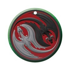 Dragon Yin Yang Ornament (Round)