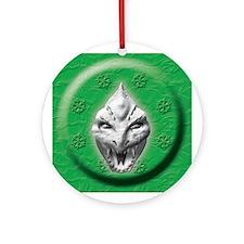 White Dragon Head Ornament (Round)