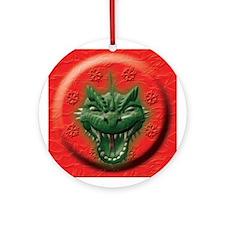 Green Dragon Head Ornament (Round)