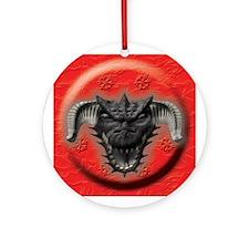 Black Dragon Head Ornament (Round)