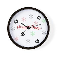 Fluffy Snowflakes Wall Clock