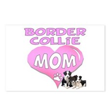 Border Collie Mom-3 Postcards (Package of 8)