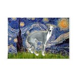 Starry Night/Italian Greyhoun Mini Poster Print