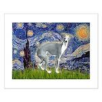 Starry Night/Italian Greyhoun Small Poster