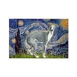 Starry Night/Italian Greyhoun Rectangle Magnet