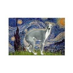 Starry Night/Italian Greyhoun Rectangle Magnet (10