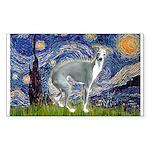 Starry Night/Italian Greyhoun Sticker (Rectangle)