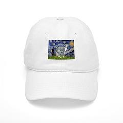 Starry Night/Italian Greyhoun Baseball Cap