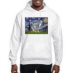 Starry Night/Italian Greyhoun Hooded Sweatshirt