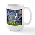 Starry Night/Italian Greyhoun Large Mug