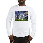 Starry Night/Italian Greyhoun Long Sleeve T-Shirt