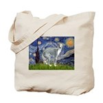 Starry Night/Italian Greyhoun Tote Bag