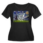 Starry Night/Italian Greyhoun Women's Plus Size Sc