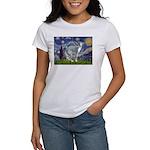 Starry Night/Italian Greyhoun Women's T-Shirt