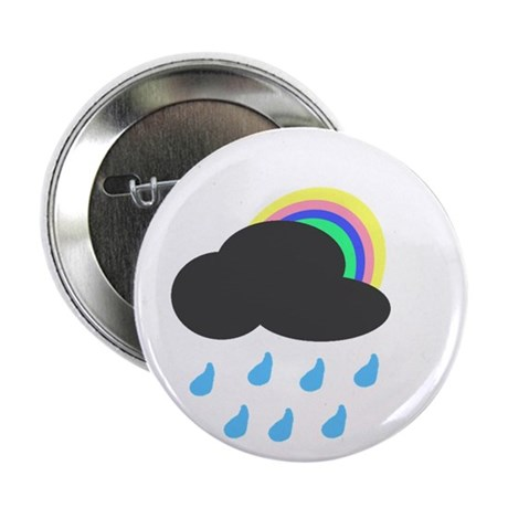 "Rainbow cloud 2.25"" Button"