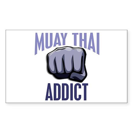 Muay Thai Addict Rectangle Sticker