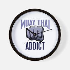Muay Thai Addict Wall Clock
