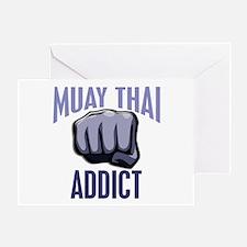Muay Thai Addict Greeting Card