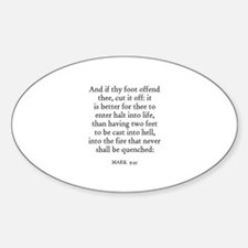 MARK 9:45 Oval Decal