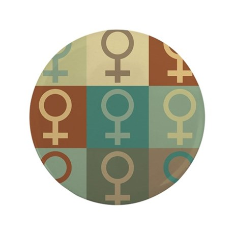 "Feminism Pop Art 3.5"" Button (100 pack)"
