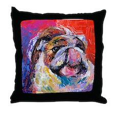 Bulldog #7 Throw Pillow