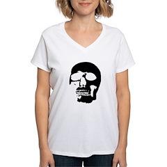 Black and White Goth Skull Shirt