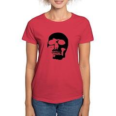 Black and White Goth Skull Tee