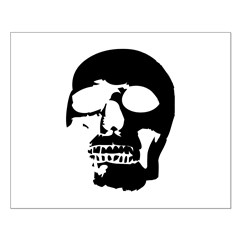 Black and White Goth Skull Posters