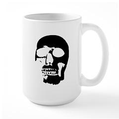 Black and White Goth Skull Mug