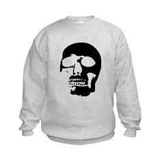 Black and White Goth Skull Sweatshirt