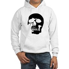 Black and White Goth Skull Hoodie