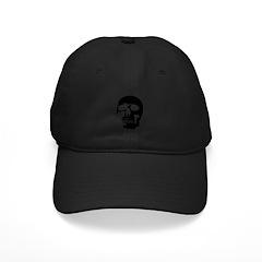 Black and White Goth Skull Baseball Hat
