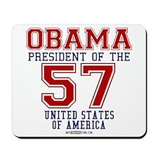 "Obama ""57 States"" Mousepad"