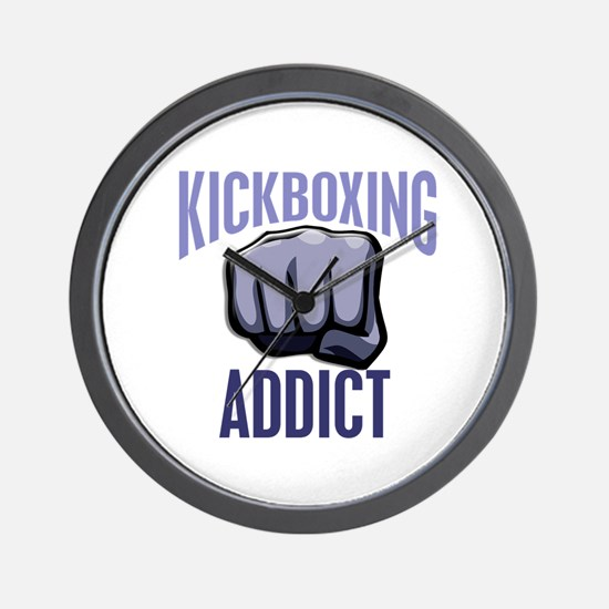 Kickboxing Addict Wall Clock