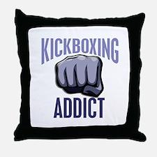 Kickboxing Addict Throw Pillow
