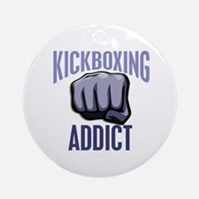 Kickboxing Addict Ornament (Round)