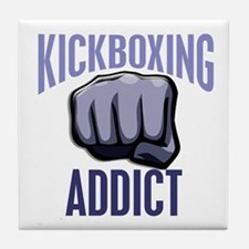 Kickboxing Addict Tile Coaster