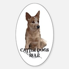 Cattle Dogs Rule Decal