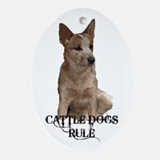 Cattle Dogs Rule Ornament (Oval)