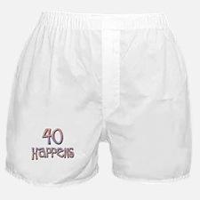 40th birthday - 40 happens! Boxer Shorts
