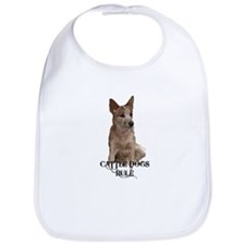 Cattle Dogs Rule Bib