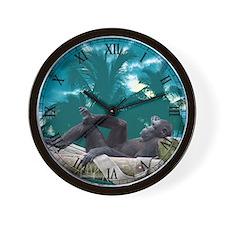 Orangutan Monkey Photo Wall Clock