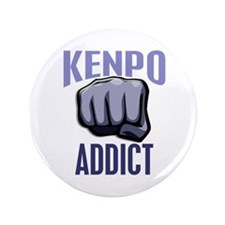"Kenpo Addict 3.5"" Button"